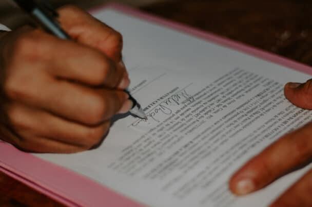 casamento civil assinatura